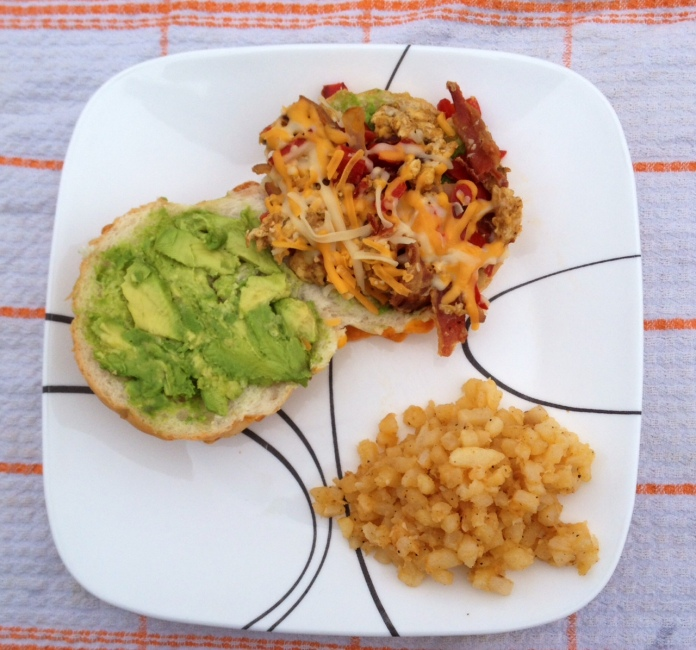 breakfast sandwich plate
