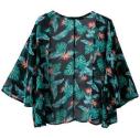 Green Print Kimono
